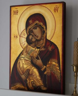 Our Lady of Vladimir Hand-Painted Orthodox Icon