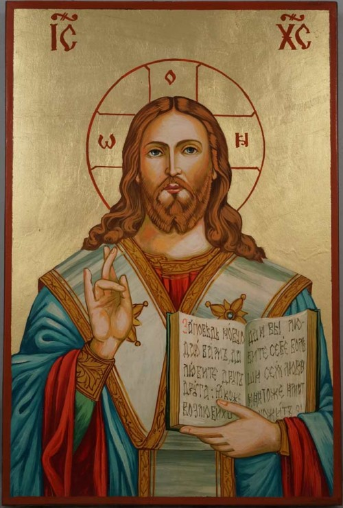 Christ Almighty Hand Painted Orthodox Icon on Wood