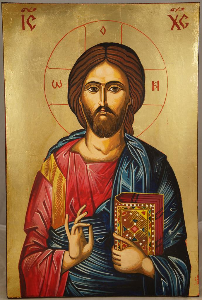 Jesus Christ Pantocrator Hand-Painted Icon - BlessedMart: blessedmart.com/shop/hand-painted-icons/jesus-christ-pantocrator