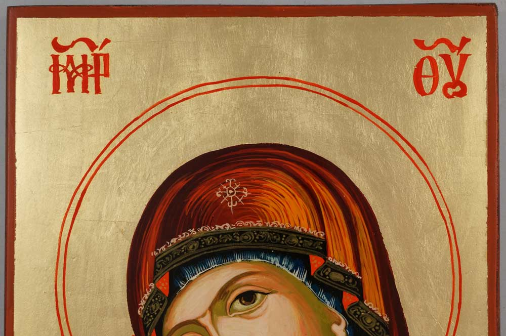 Mother of God Rilska Hand Painted Orthodox Icon on Wood