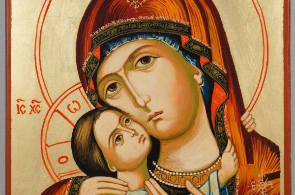Mother of God Rilska Hand Painted Orthodox Icon on Wood