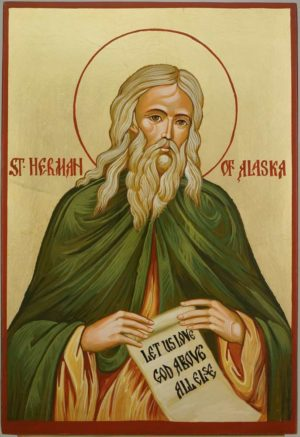 Saint Herman of Alaska Hand Painted Orthodox Icon on Wood