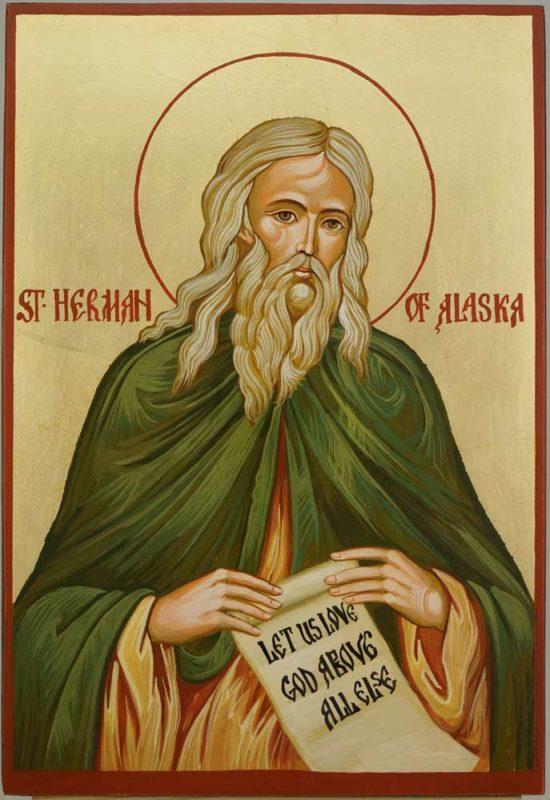 Saint Herman of Alaska Hand Painted Orthodox Icon on Wood