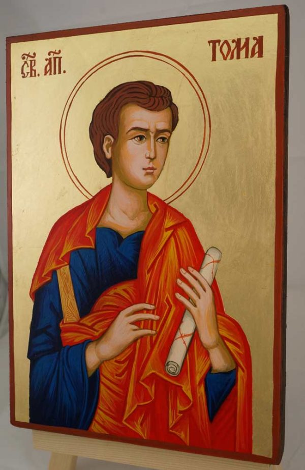 Saint Thomas the Apostle Hand Painted Byzantine Orthodox Icon on Wood