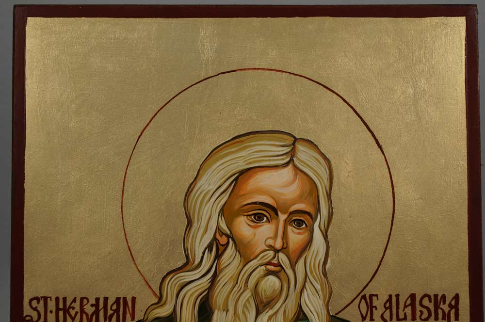 Saint Herman of Alaska Hand-Painted Byzantine Icon