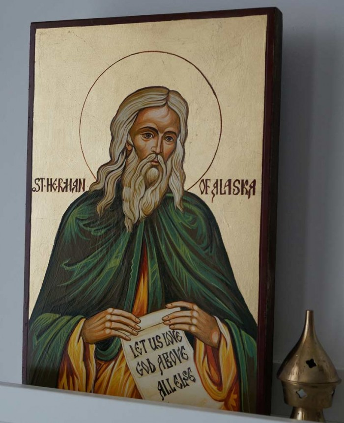 Let Us Love God Above All Else - St Herman of Alaska Icon