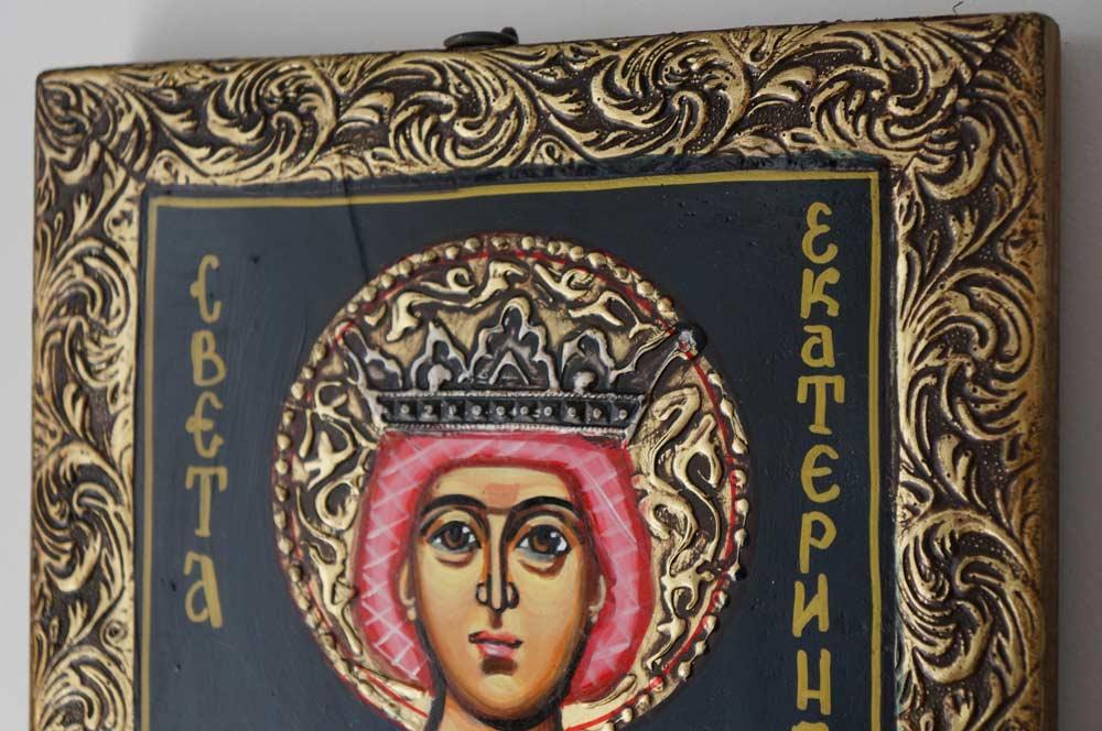 Saint Catherine of Alexandria Hand-Painted Orthodox Icon