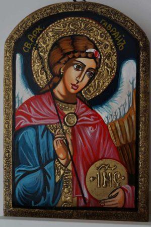 Saint Archangel Gabriel Hand-Painted Orthodox Icon