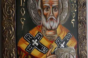 Hand-Painted Orthodox Icon of St Saint Nicholas