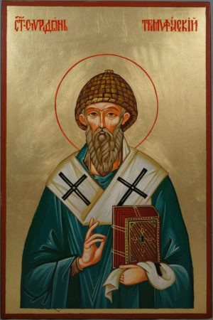 Saint Spyridon Bishop of Trimythous Hand-Painted Orthodox Icon