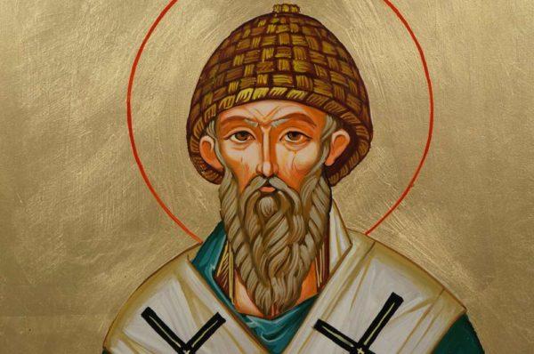 Saint Spyridon Bishop of Trimythous Hand-Painted Orthodox Icon