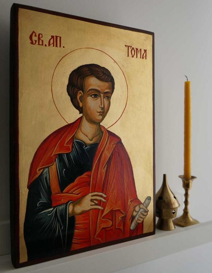 Saint Thomas the Apostle Hand-Painted Byzantine Icon