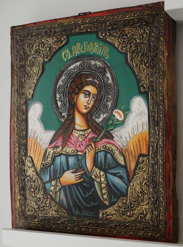 St Gabriel the Archangel Hand-Painted Byzantine Icon