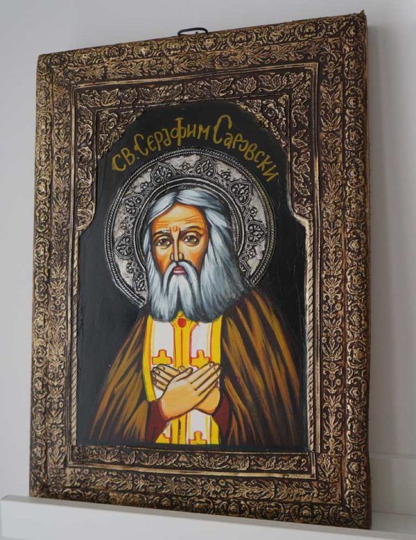 Saint Seraphim of Sarov Hand-Painted Russian Icon