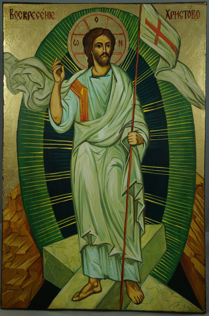Resurrection of Jesus Christ Hand-Painted Icon - BlessedMart Russian Resurrection Icon