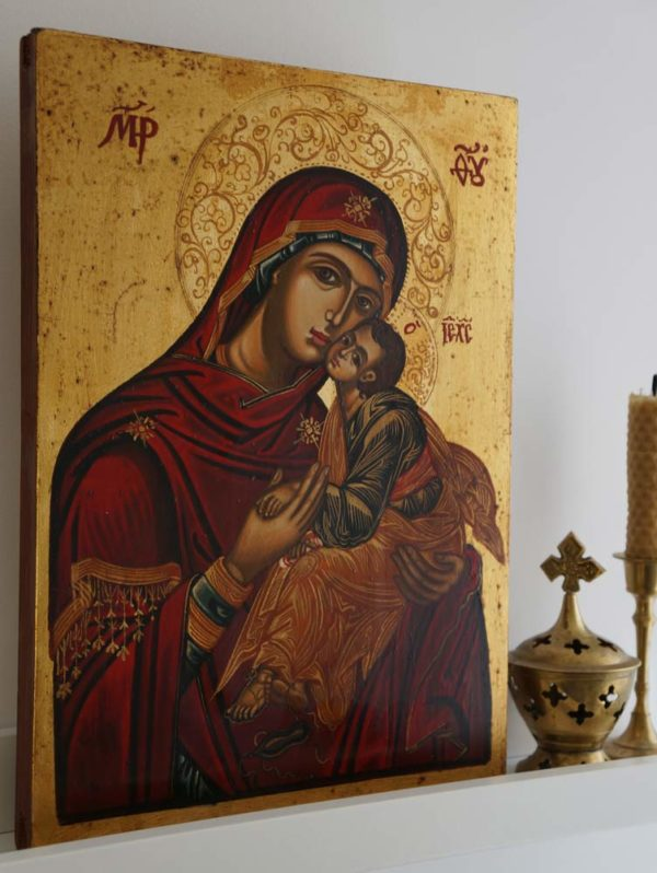 Mother of God Eleusa Hand-Painted Icon