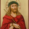 Jesus Christ Crown of Thorns Hand Painted Icon Byzantine Orthodox