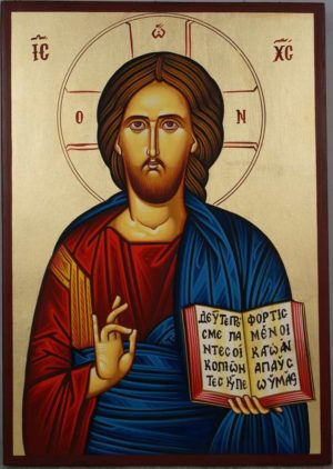 Jesus Christ Ruler of All Hand Painted Orthodox Icon on Wood