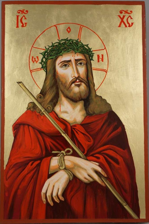 Jesus Christ Crown of Thorns Hand-Painted Orthodox Icon
