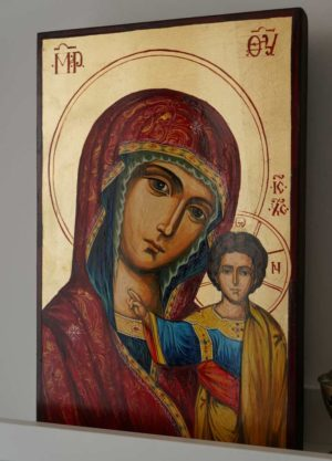Virgin of Kazan Hand-Painted Russian Icon