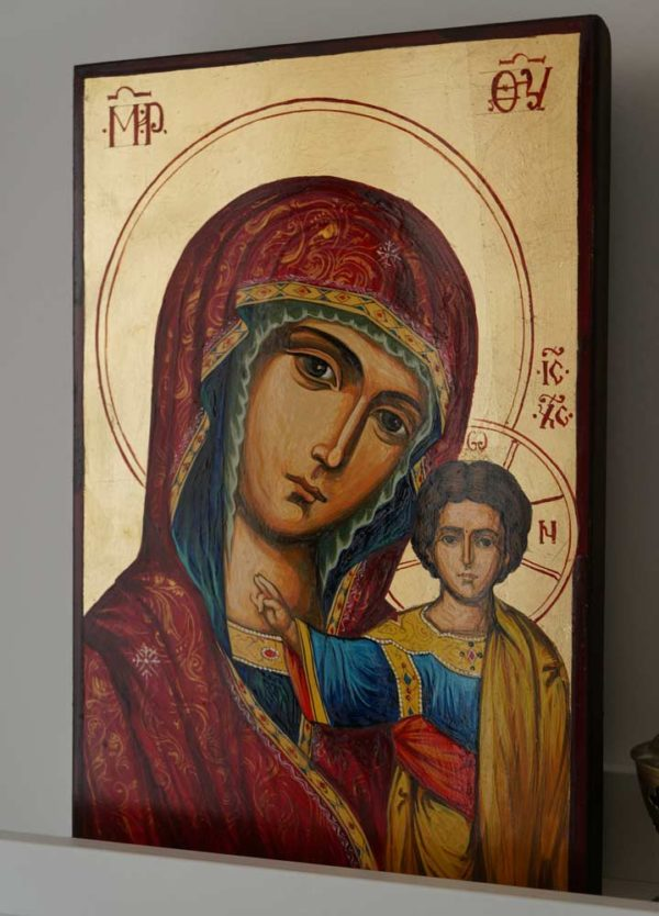 Virgin of Kazan Hand-Painted Russian Icon
