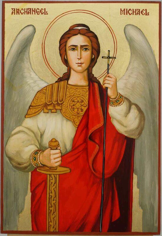 Saint Archangel Michael Icon Hand Painted Byzantine Orthodox