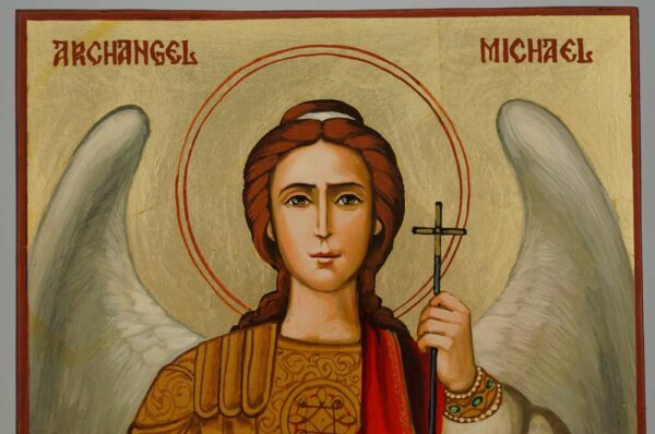 Saint Archangel Michael Icon Hand Painted Byzantine Orthodox
