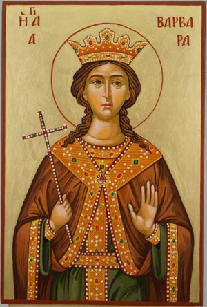 Saint Barbara Icon Hand Painted Byzantine Orthodox