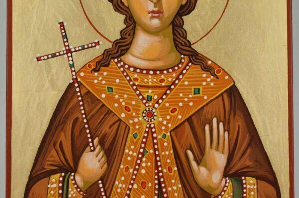 Saint Barbara Icon Hand Painted Byzantine Orthodox