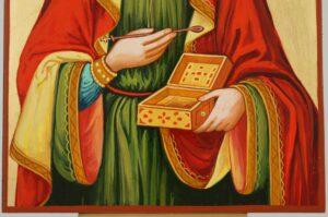 Saint Pantaleon Icon Hand Painted Byzantine Orthodox