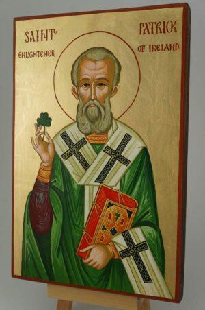 Saint Patrick Icon Hand Painted Byzantine Orthodox