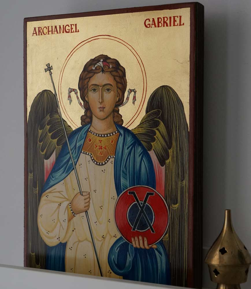 St Archangel Gabriel Hand-Painted Orthodox Byzantine Icon