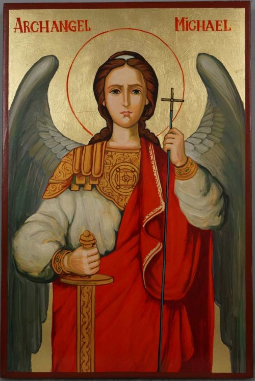 Hand-Painted Orthodox Icon of St Saint Archangel Michael