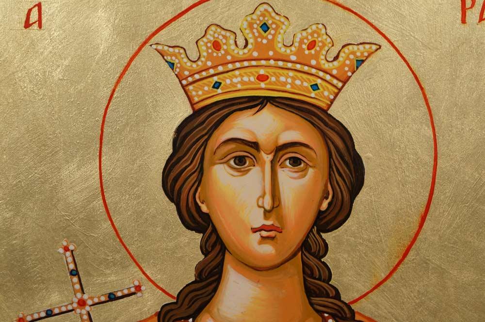 St Saint Barbara Hand-Painted Byzantine Orthodox Icon