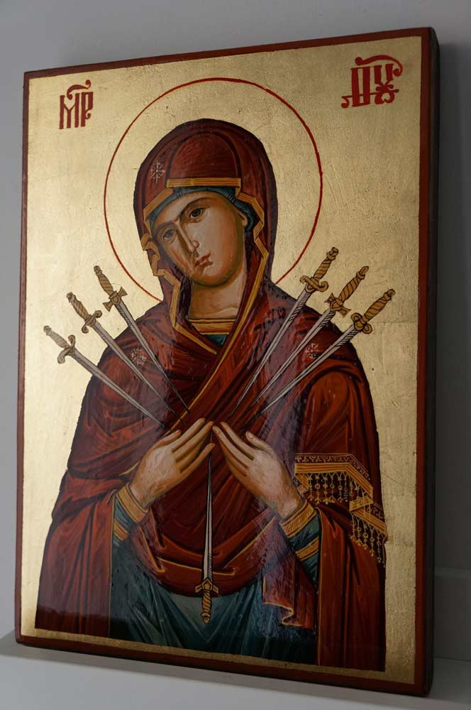Theotokos Softener of Evil Hearts Hand Painted Orthodox Icon