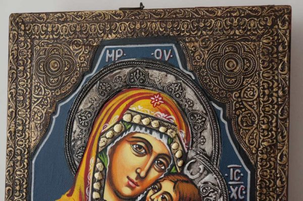 Virgin Mary Sweet Loving Hand-Painted Byzantine Icon