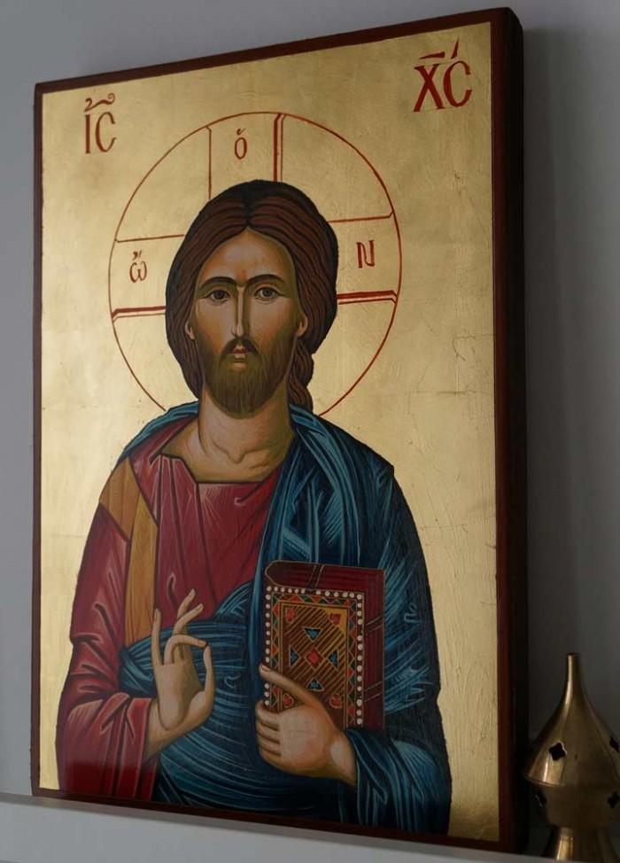 Jesus Christ Pantocrator - Large Hand-Painted Orthodox Icon
