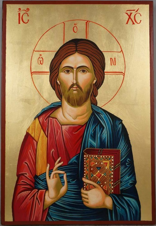 Jesus Christ Pantocrator - Large Hand-Painted Orthodox Icon