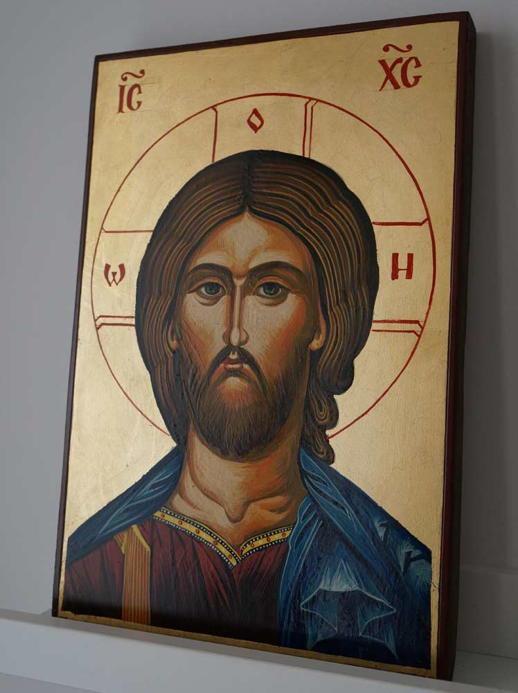 The Son of God Hand-Painted Byzantine Icon