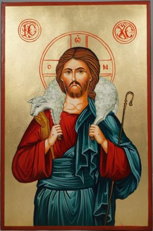 Jesus the Good Shepherd Hand-Painted Orthodox Icon