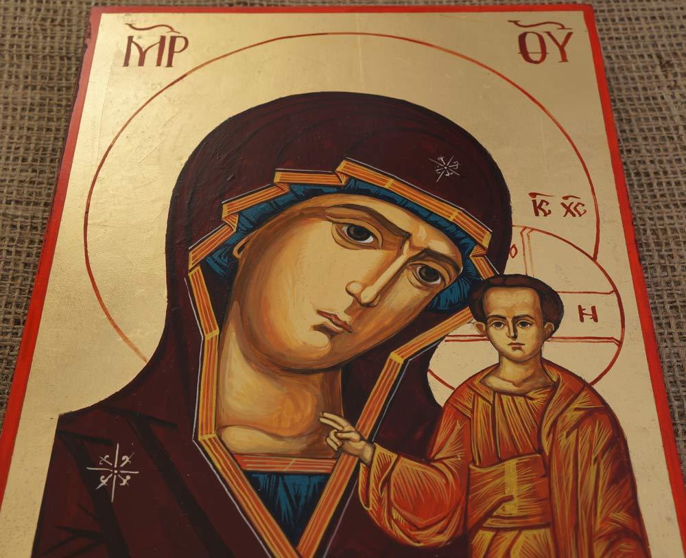 Kazan Mother of God Hand-Painted Orthodox Icon