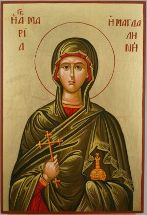 Mary Magdalene Icon Hand Painted Byzantine Orthodox