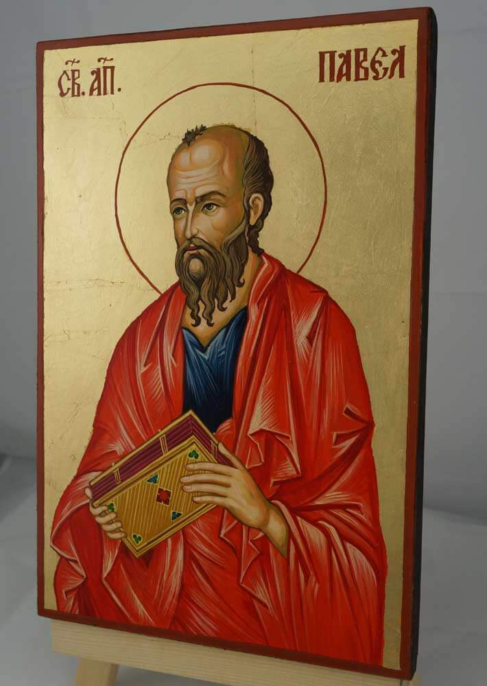 Saint Paul the Apostle Hand Painted Orthodox Icon on Wood