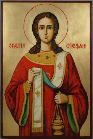 Saint Stephen Hand-Painted Byzantine Icon