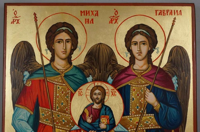 Synaxis Of The Holy Archangels Hand Painted Orthodox Icon on Wood