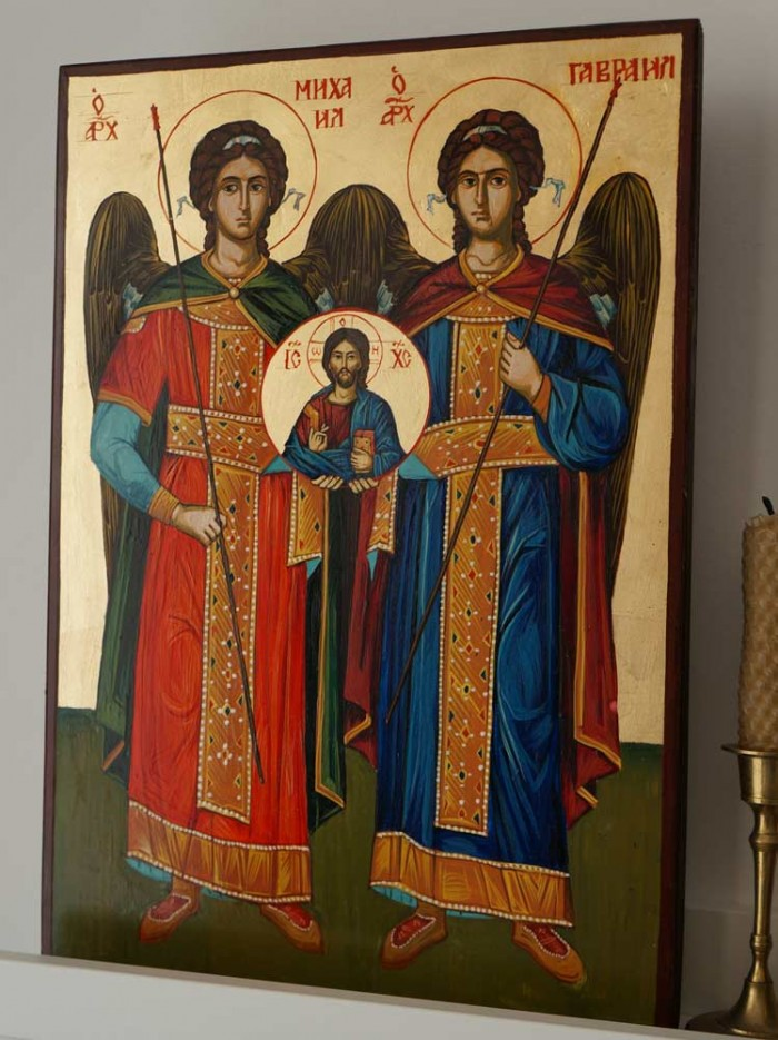 Synaxis Of The Holy Archangels Hand-Painted Byzantine Icon