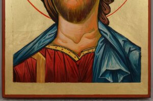 The Son of God Hand Painted Orthodox Byzantine Icon on Wood
