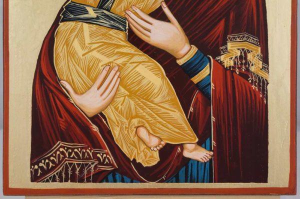 Theotokos of Vladimir Hand Painted Orthodox Icon on Wood