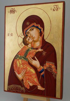 Theotokos of Vladimir Icon Hand Painted Byzantine Orthodox Large