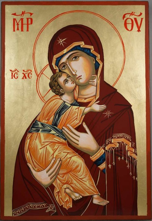 Theotokos of Vladimir Large Hand-Painted Orthodox Icon